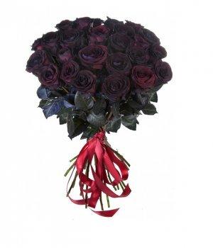 Букет из черных роз (29 шт) #576