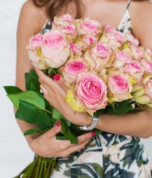 Букет из 25 роз Эквадор (50 см) #737