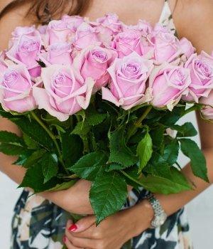 Букет из 25 розовых роз Эквадор (50см) #873