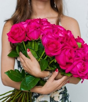 Букет из 25 роз Эквадор (70 см) #743