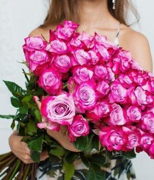 Букет из 49 роз Эквадор (70 см) #698