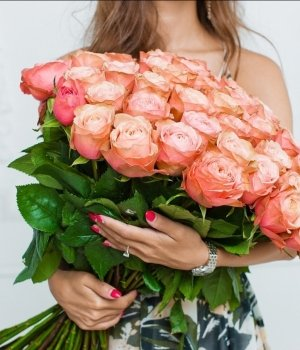 Букет из 51 розы  Эквадор (70 см) #340