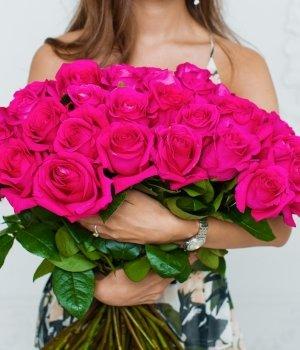 Букет из 49  роз Эквадор (70 см) #702