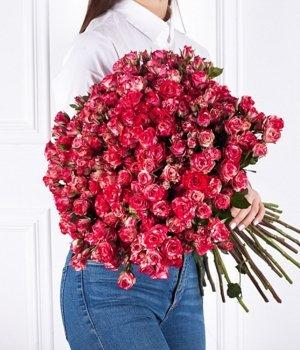 Букет из двухцветных кустовых роз (39 шт) #39