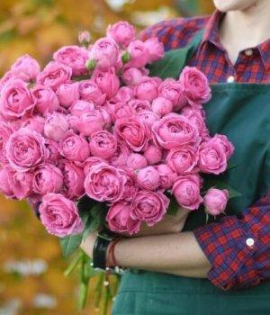 Букет из пионовидных роз (29 шт) #326