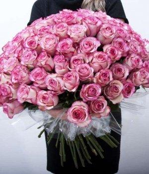Букет из 101 розы Эквадор (70 см) #129