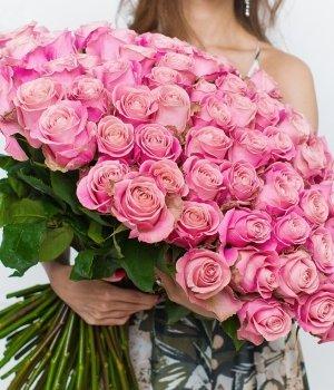 Букет из  99  роз Эквадор  (70 см) #418
