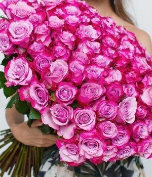 Букет из 101 розы Эквадор (70 см) #1010