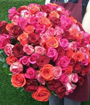 Букет из 101 розы (микс) #496