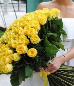 Букет из 101 желтой розы (50 см) #131