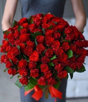Букет из 101 красной розы (50 см) #1011