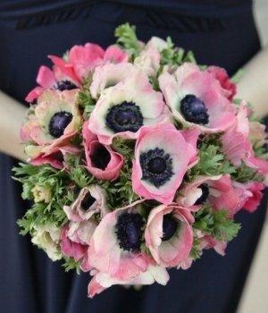 Букет из розовых анемонов (29 шт) #640