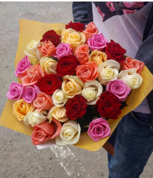 Микс-букет из роз (39 шт) #825
