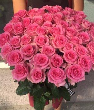 Букет из 51 розовой розы (70 см) #699
