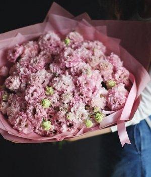 Букет из розовых эустом (39 шт) #1174