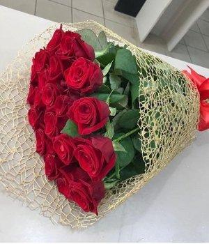 Букет из 29 красных роз (50 см) #1245