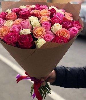 Микс из 51 розы (50 см) #1282
