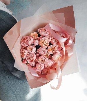 Букет из пионовидных роз Джульетта (9 шт) #1372