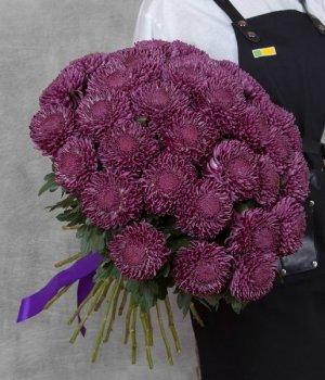 Букет из одноголовых хризантем (49 шт) #1390