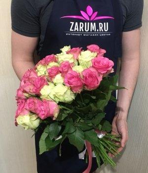 Микс-букет из 29 Кенийских роз (40 см) #1412