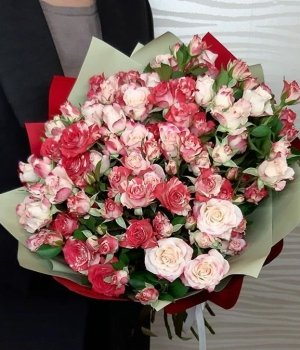 Микс из кустовых роз (29 шт) #1433