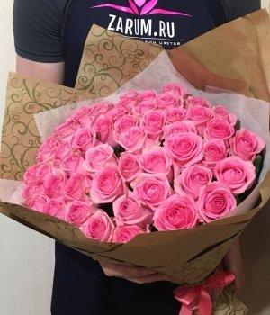 Букет из 51 розовой розы (50 см) #532
