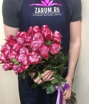 Букет из 25 розовых роз Эквадор (60см) #872