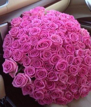 Букет из 101 розовой розы (60 см) #1538