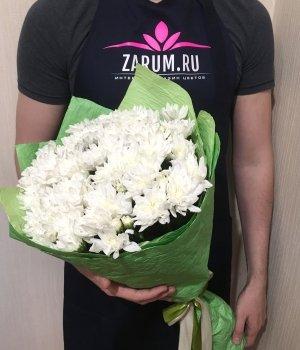 Букет из белых хризантем (9 шт) #1003