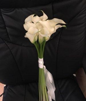 Букет из белых калл ( 9 шт) #1376