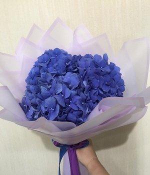 Букет из синих  гортензий (3 шт) #992