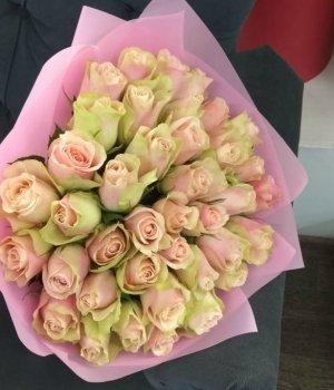 Букет из 39 кенийских роз (40 см) #1601