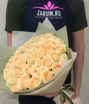 Букет из 51 кремовой розы (50 см) #521