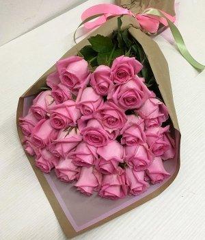 Букет из 29 розовых роз (50 см) #1242