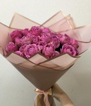 Букет из пионовидных роз Мисти Баблз (19 шт) #1670
