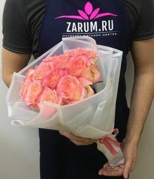 Букет из 11 роз Джумилия ( 40 см) #1687