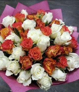 Микс-букет из 39 Кенийских роз #1171