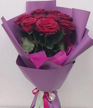 Букет из красных роз (9 шт) #1334