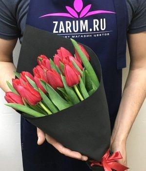 Букет из красных тюльпанов (25 шт) #862