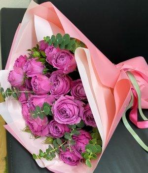 Букет из Пионовидных роз Мисти Баблз  (15 шт) #1543