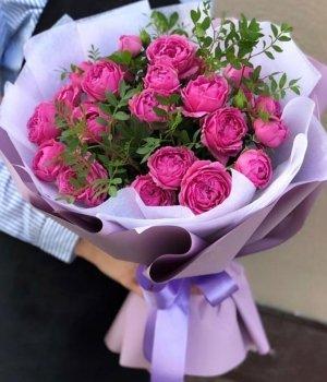 Букет из пионовидных роз Мисти Баблз ( 15 шт) #1896