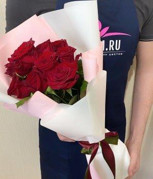 Букет из 9 красных роз (50 см ) #1903