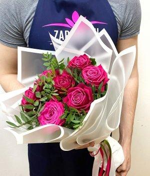 Букет из 7 роз Шангрила (50 см ) #1913