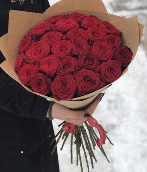 Букет из 29 красных роз (50 см ) #1927