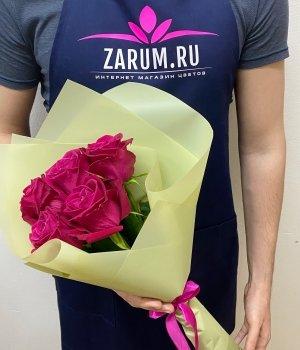 Букет из 5  роз  Шангрила  (40 см) #1865