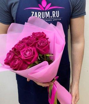 Букет из 9 роз Шангрила (50 см) #2011