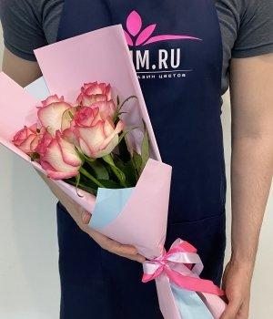Букет из 5 роз Джумилия (50 см ) #2015