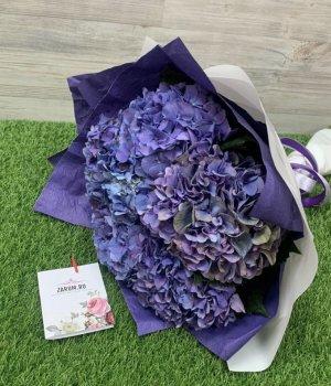 Букет из фиолетовых гортензий ( 5 шт) #991