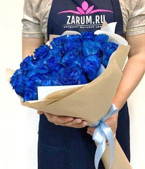 Букет из синих роз (25 шт) #108