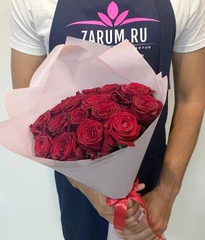 Букет из 15 красных роз (50 см) #1272